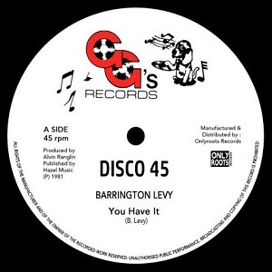 Barrington Levy : You Have It (Extended Version) | Maxi / 10inch / 12inch  |  Oldies / Classics