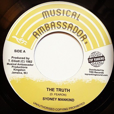 Sydney Mankind : The Truth   Single / 7inch / 45T     Oldies / Classics