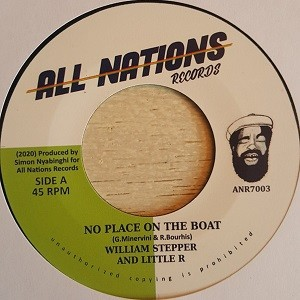 William Stepper, Little R : No Place On The Boat | Single / 7inch / 45T  |  UK