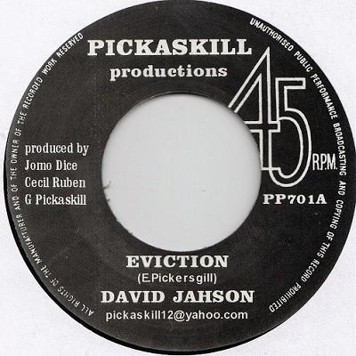 David Jahson : Eviction | Single / 7inch / 45T  |  UK