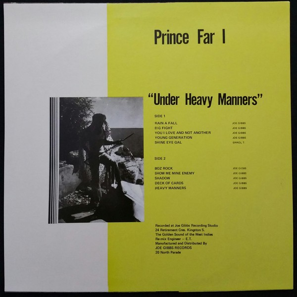 Prince Far I : Under Heavy Manners | LP / 33T  |  Oldies / Classics