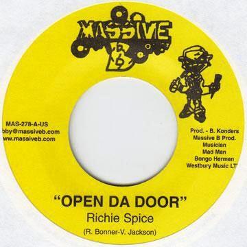 Richie Spice : Open Da Door   Single / 7inch / 45T     Dancehall / Nu-roots
