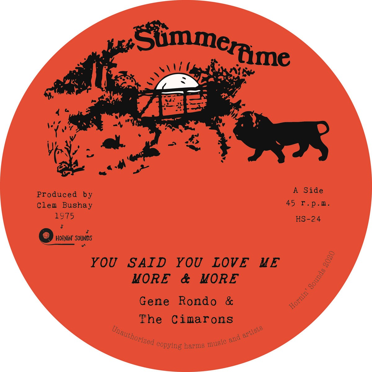 Gene Rondo & The Cimarons : You Said You Love Me More & More   Single / 7inch / 45T     Oldies / Classics