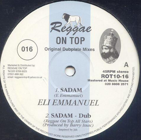 Eli Emmanuel : Sadam   Maxi / 10inch / 12inch     Dancehall / Nu-roots