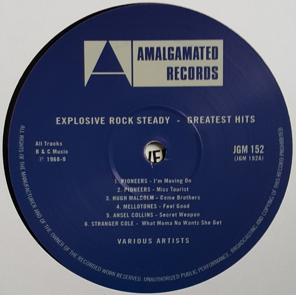 Various : Explosive Rock Steady - Greatest Hits | LP / 33T  |  Oldies / Classics