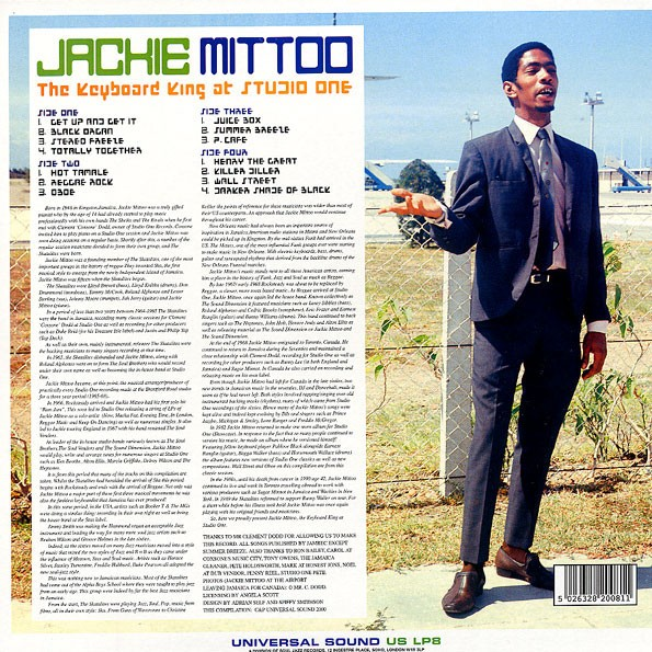 Jackie Mittoo : The Keyboard King At Studio One | LP / 33T  |  Oldies / Classics
