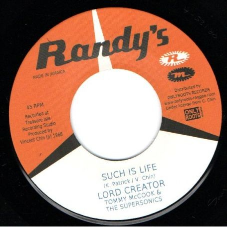 Lord Creator : Such Is Life | Single / 7inch / 45T  |  Oldies / Classics