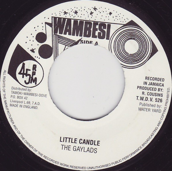 The Gaylads : Little Candle | Single / 7inch / 45T  |  Oldies / Classics