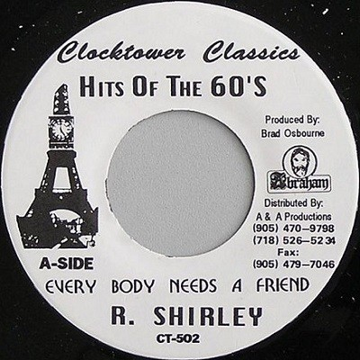 Roy Shirley : Everybody Needs a Friend | Single / 7inch / 45T  |  Oldies / Classics