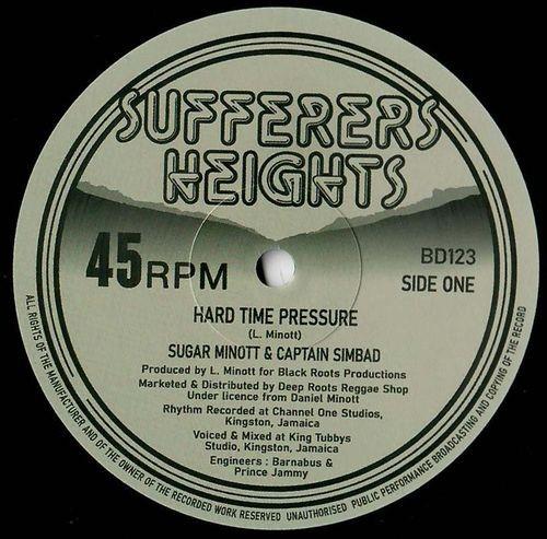 Sugar Minott & Captain Sinbad : Hard Time Pressure | Maxi / 10inch / 12inch  |  Oldies / Classics