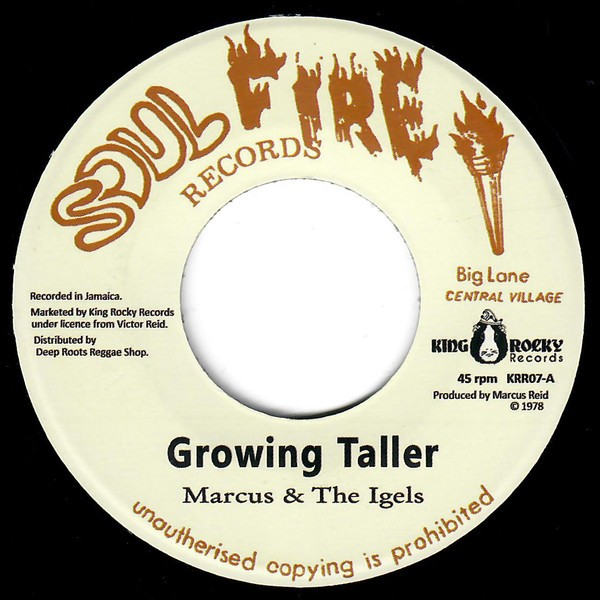 Marcus & The Igels : Growing Taller   Single / 7inch / 45T     Oldies / Classics
