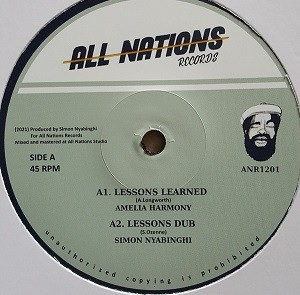 Amelia Harmony : Lessons Learned | Maxi / 10inch / 12inch  |  UK