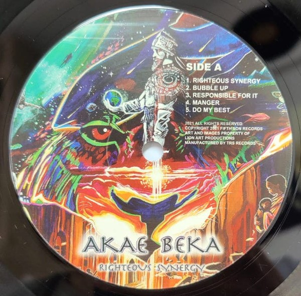 Akae Beka : Righteous Synergy   LP / 33T     Dancehall / Nu-roots