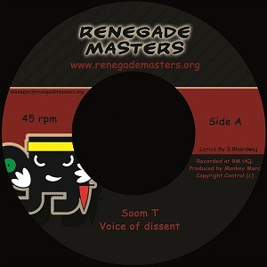 Soom T : Voice Of Dissent | Single / 7inch / 45T  |  UK
