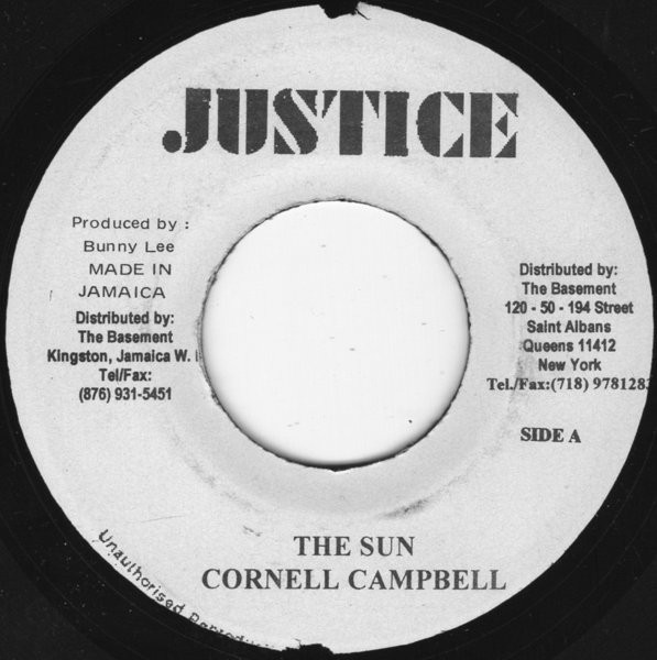 Cornell Campbell : The Sun | Single / 7inch / 45T  |  Oldies / Classics