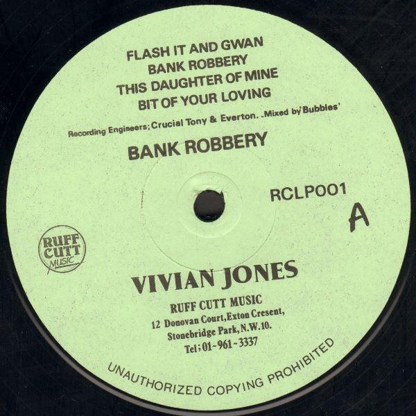 Vivian Jones : Bank Robbery   LP / 33T     UK