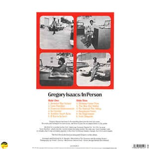 Gregory Issacs : In Person | LP / 33T  |  Oldies / Classics