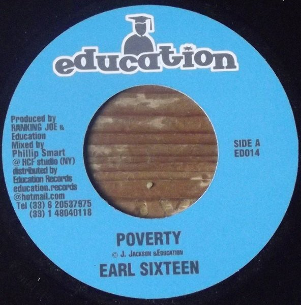 Earl Sixteen : Poverty | Single / 7inch / 45T  |  Dancehall / Nu-roots