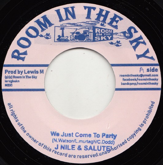 J-nile Aka Yung Ruler & Salute : We Just Come To Party | Single / 7inch / 45T  |  Dancehall / Nu-roots