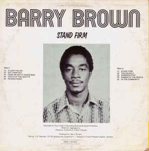 Barry Brown : Stand Firm | LP / 33T  |  Oldies / Classics
