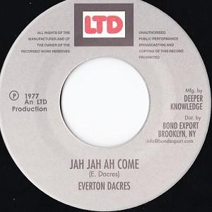Everton Dacres : Jah Jah Ah Come
