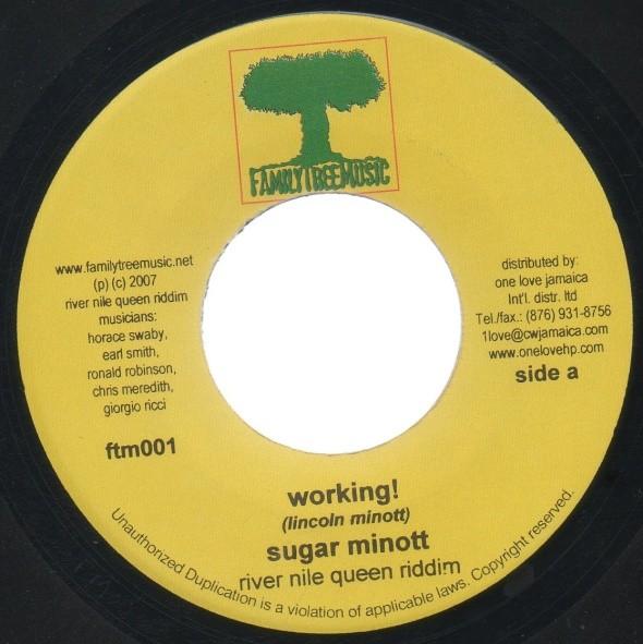Sugar Minott : Working !   Single / 7inch / 45T     Dancehall / Nu-roots
