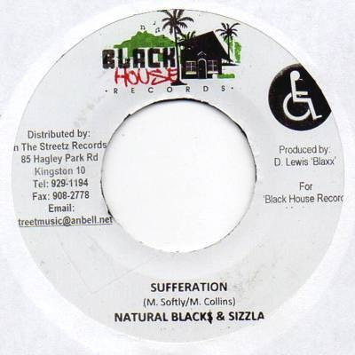 Natural Black & Sizzla : Sufferation | Single / 7inch / 45T  |  Dancehall / Nu-roots