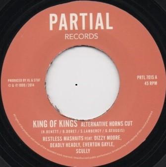 Restless Mashaits : King Of Kings Alternative Horns Cut   Single / 7inch / 45T     UK