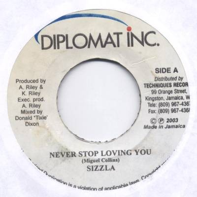 Sizzla : Never Stop Loving You   Single / 7inch / 45T     Oldies / Classics
