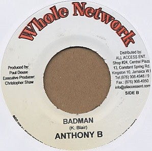 Anthony B : Badman | Single / 7inch / 45T  |  Dancehall / Nu-roots