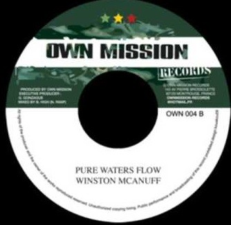 Winston Mc Anuff : Pure Waters Flow   Single / 7inch / 45T     Dancehall / Nu-roots
