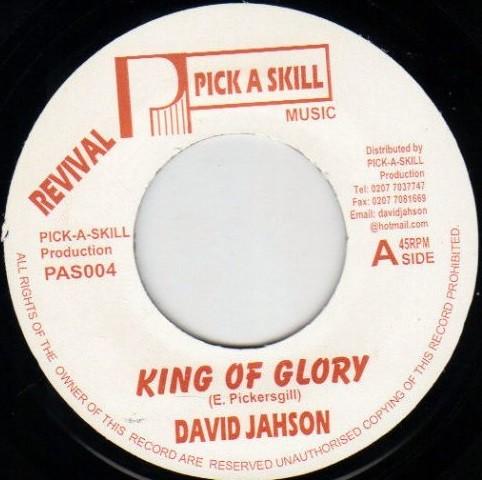 David Jahson : King Of Glory   Single / 7inch / 45T     UK