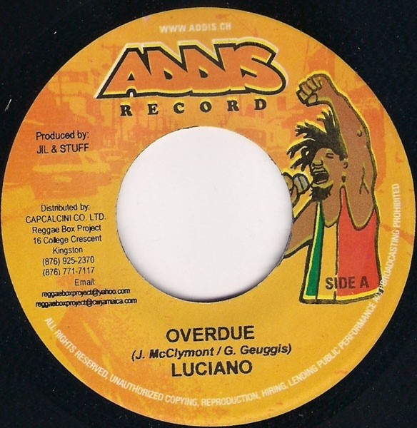 Luciano : Overdue | Single / 7inch / 45T  |  Dancehall / Nu-roots