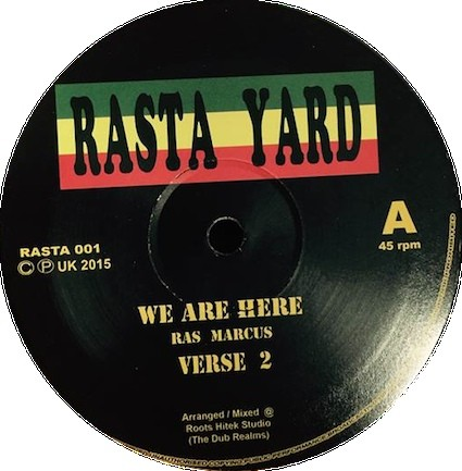 Ras Marcus : We Are Here | Maxi / 10inch / 12inch  |  UK