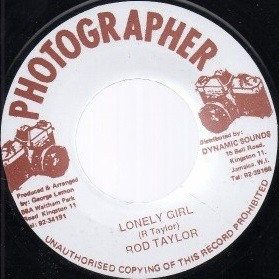Rod Taylor : Lonely Girl | Single / 7inch / 45T  |  Oldies / Classics
