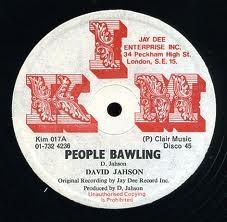David Jahson : People Bawling   Maxi / 10inch / 12inch     Dancehall / Nu-roots