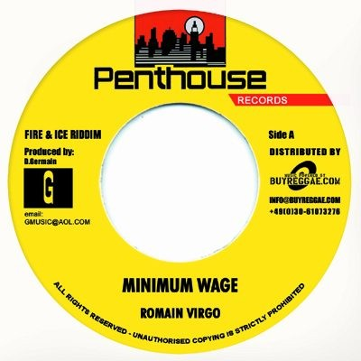 Romain Virgo : Minimum Wage | Single / 7inch / 45T  |  Dancehall / Nu-roots