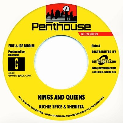 Richie Spice & Sherieta : Kings And Queens | Single / 7inch / 45T  |  Dancehall / Nu-roots