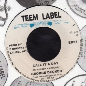 George Dekker : Call It A Day | Single / 7inch / 45T  |  Dancehall / Nu-roots