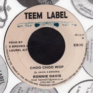 Ronnie Davis : Choo Choo Wop | Single / 7inch / 45T  |  Dancehall / Nu-roots