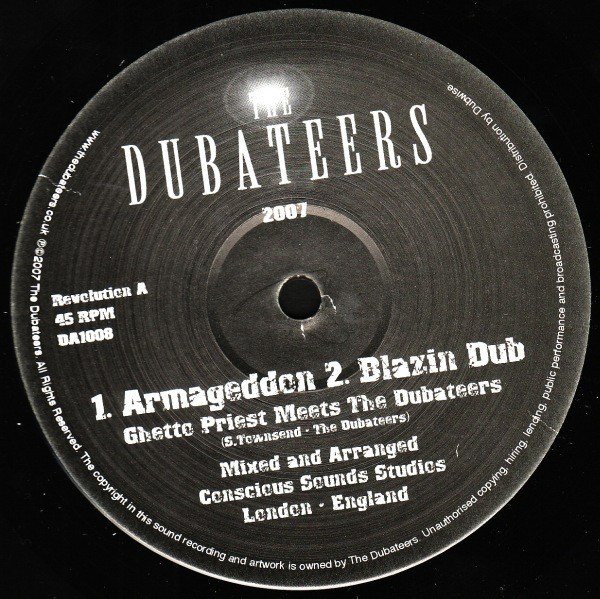 Ghetto Priest Meets The Dubateers : Armageddon   Maxi / 10inch / 12inch     Dancehall / Nu-roots