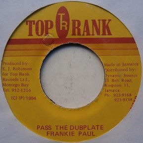 Frankie Paul : Pass The Dubplate   Collector / Original press     Collectors
