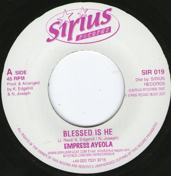Empress Ayeola : Blessed Is He | Single / 7inch / 45T  |  UK