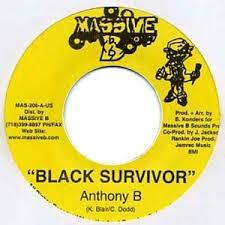 Anthony B : Black Survivor | Single / 7inch / 45T  |  Dancehall / Nu-roots