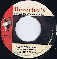 George Dekker ( The Pionneers ) : All In Your Mind | Single / 7inch / 45T  |  Oldies / Classics