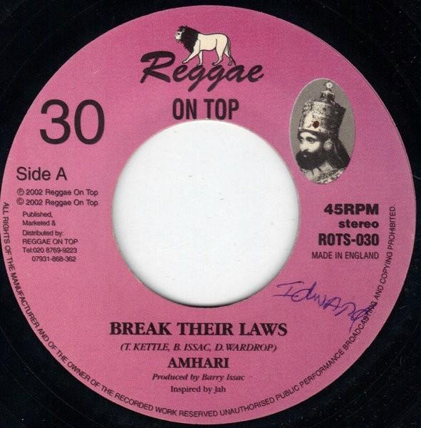 Amhari : Break Their Laws   Single / 7inch / 45T     UK