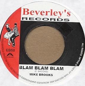 Mike Brooks : Blam Blam Blam | Single / 7inch / 45T  |  Oldies / Classics