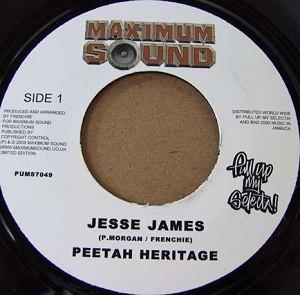 Peetah Heritage : Jesse James | Single / 7inch / 45T  |  Dancehall / Nu-roots