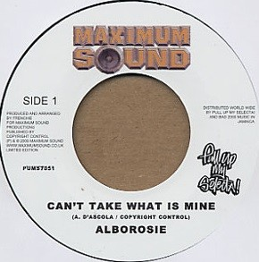 Alborosie : Can't Take What Is Mine | Single / 7inch / 45T  |  Dancehall / Nu-roots