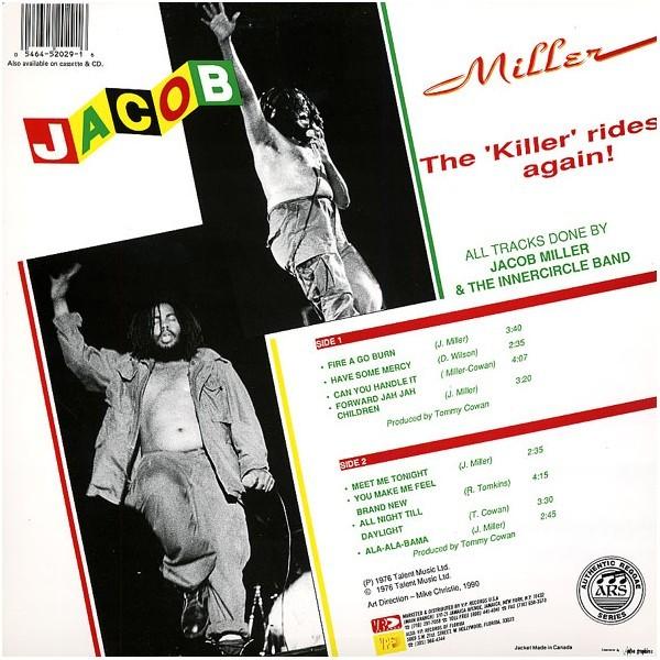 Jacob Miller : The Killer Rides Again   LP / 33T     Oldies / Classics